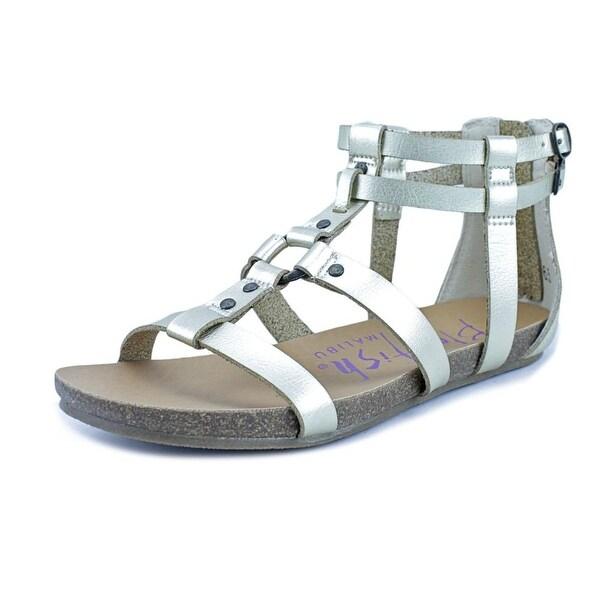 Blowfish Gotten Women Open Toe Synthetic Gold Gladiator Sandal