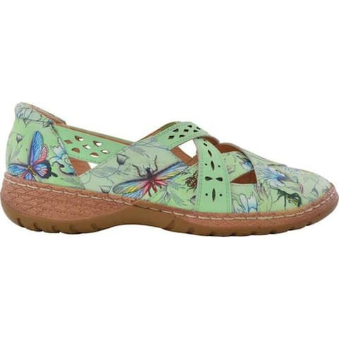 Anuschka Women's Diana Mary Jane Wondrous Wings Printed Leather