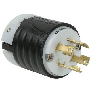 Pass & Seymour L1530PCC Turnlok Plug, 30A, 250V, Black & White