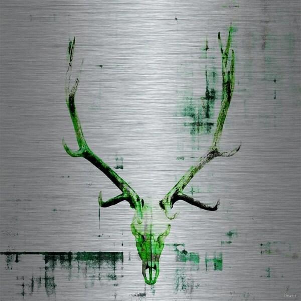 Parvez Taj Head Banger - Aluminum Art Print on Brushed Aluminum
