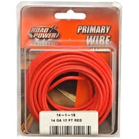 Road Power 55669133 Primary Electrical Wire, 14 Gauge, 17', Red
