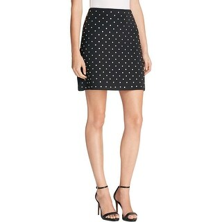 French Connection Womens A-Line Skirt Embellished Pleated
