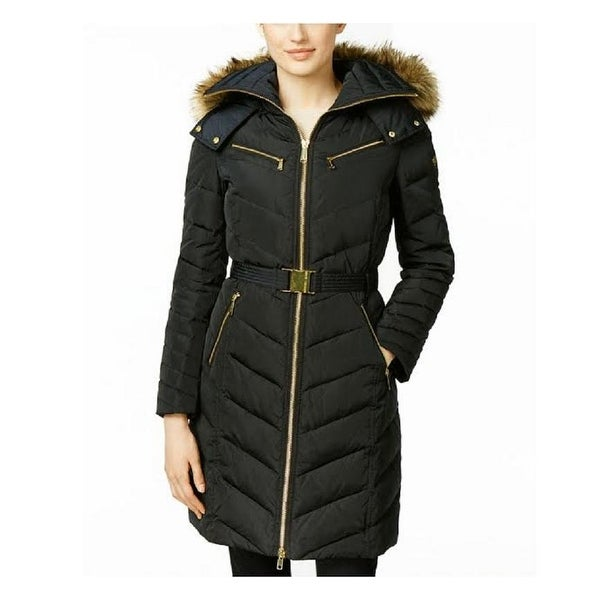 514bf31fb023b Shop Michael Michael Kors Womens Black 3,4 Down Puffer Coat Hooded - Free  Shipping Today - Overstock - 24301492