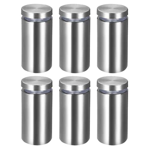 Glass Standoff Mount Stainless Steel Wall Standoff 25mm Dia 52mm Length 6 Pcs - 25mm x 52mm (6 pack) - 25mm x 52mm (6 Pack)