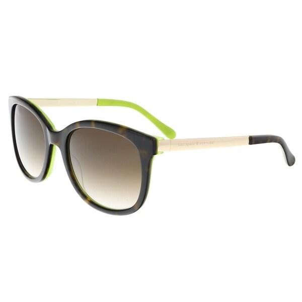be4cbf7592 Shop Kate Spade - Gayla S 0DV2 Tortoise Kiwi Round Sunglasses - On ...
