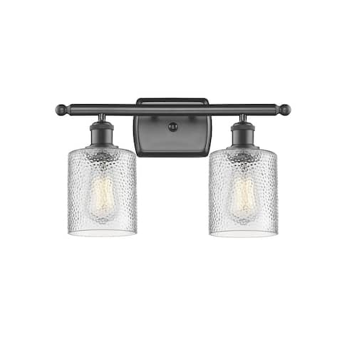 Restorations Two Light Bath Vanity Iron Works Oil Rubbed Bronze - Exact Size