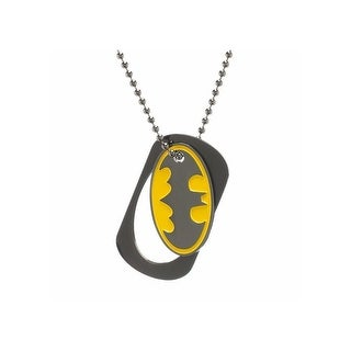 Batman Classic Logo Cutout Metal Dog Tag Necklace