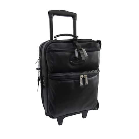 Amerileather Black Leather Novix Gament Bag (2460-0)