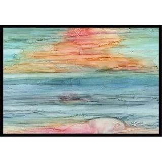Carolines Treasures 8979MAT Abstract Rainbow Indoor or Outdoor Mat 18 x 27 in.