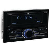 Double-DIN In-Dash CD AM-FM Receiver with Bluetooth, Black