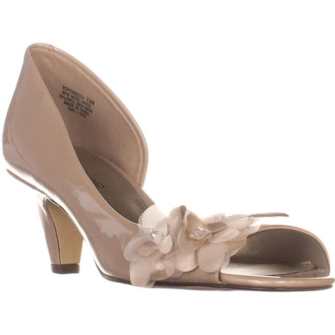 Bandolino Pemberly Peep Toe Pumps, Off White - 7.5 US