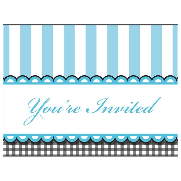Shop Club Pack Of 48 Sweet Baby Feet Blue Baby Shower Invitation