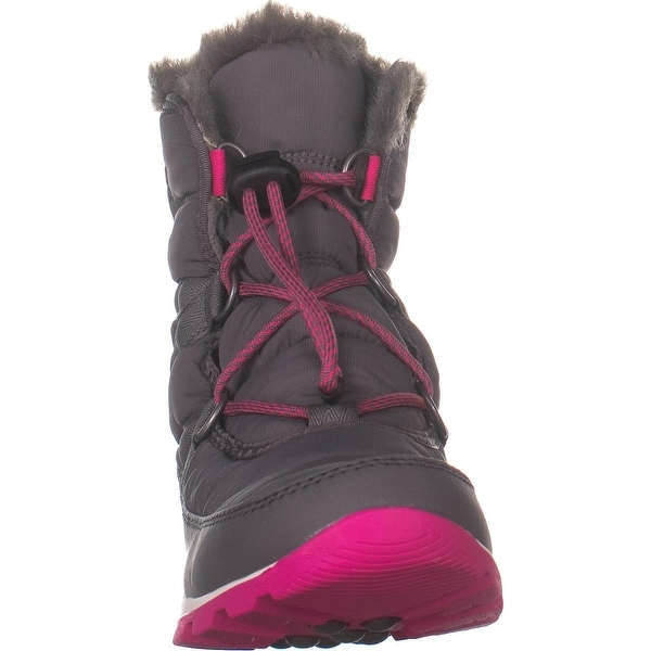 Sorel Youth Whitney Short Lace Waterproof quarry ultra pink Kinderschuh grau