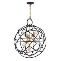 "Artcraft Lighting AC10956 Orbit 6 Light 24"" Wide Globe Chandelier - Oil Rubbed bronze"