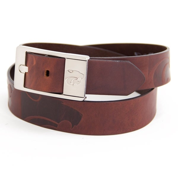 Kansas State University Brandish Leather Belt