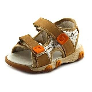 Ciao Bimbi Biscott Toddler Open-Toe Canvas Brown Sport Sandal
