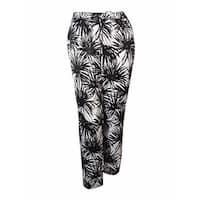 MICHAEL Michael Kors Women's Print Satin Pants - Black