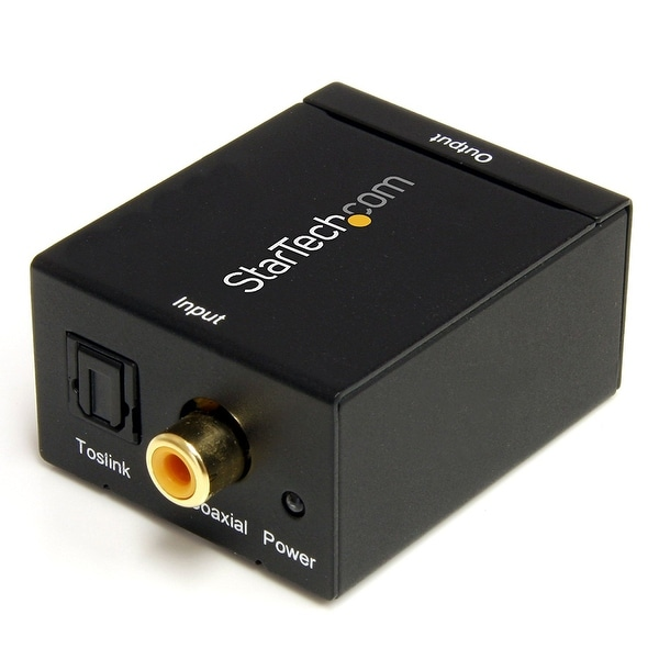 Startech Spdif2aa Spdif Digital Coaxial Or Toslink To Stereo Rca Audio Converter