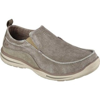 Skechers Men's Relaxed Fit Elected Drigo Loafer Taupe