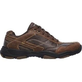 Skechers Men's Larson Havon Sneaker,Dark Brown