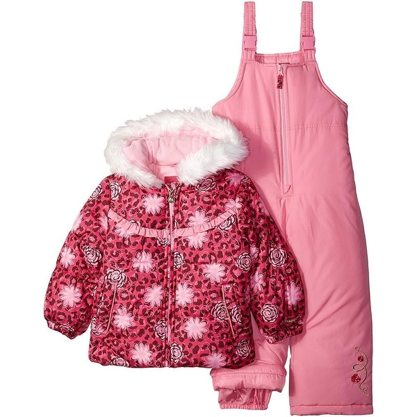 b353e036c Shop London Fog Girls 4-6X Floral Puffer Jacket Snowsuit - Pink - Free  Shipping Today - Overstock - 19432991