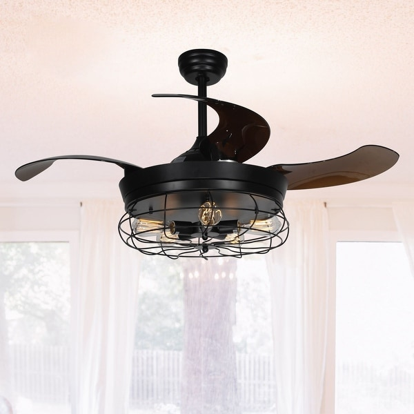 shop industrial 42 inch black 5 light edison bulb ceiling fan free shipping today overstock. Black Bedroom Furniture Sets. Home Design Ideas