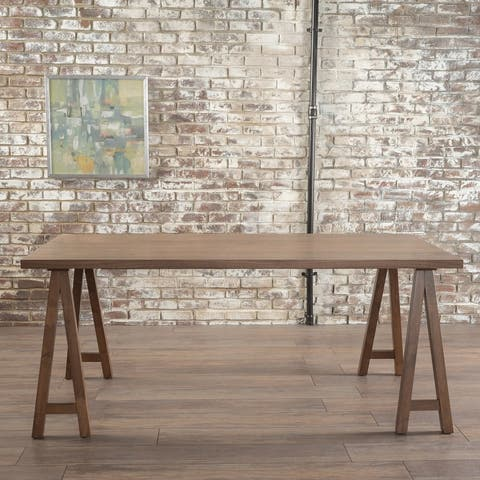 Sabine Rectangle Wood Farmhouse Dining Table by Christopher Knight Home