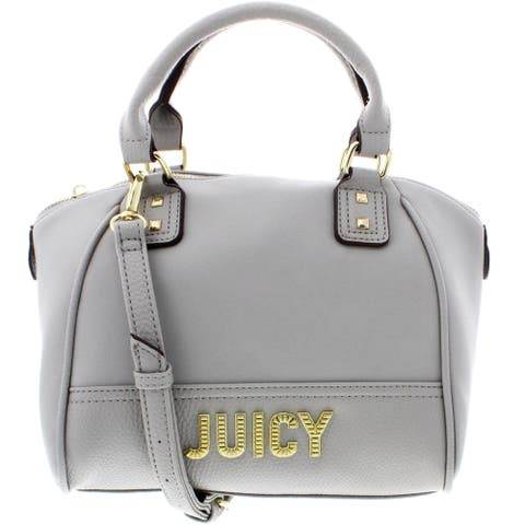 Juicy Couture Blank Check Women's Faux Leather Convertible Satchel Handbag - Small