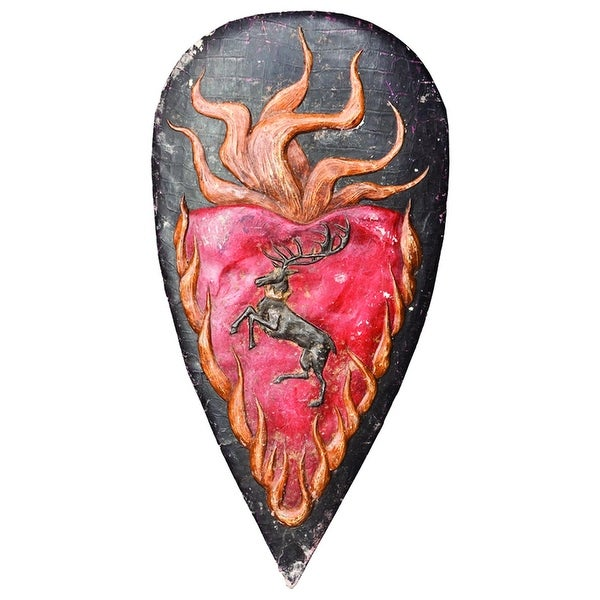 Game Of Thrones Shield Metal Pin Stannis - Black