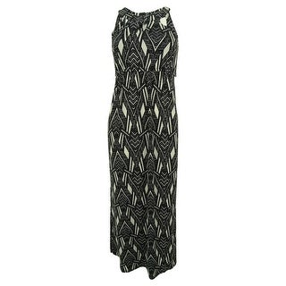 Style & Co. Women's Printed Cutout Maxi Dress - petite
