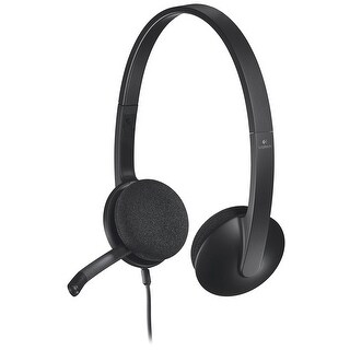 Logitech 981-000507 Usb Headset H340 For Internet Calls And Music - Black