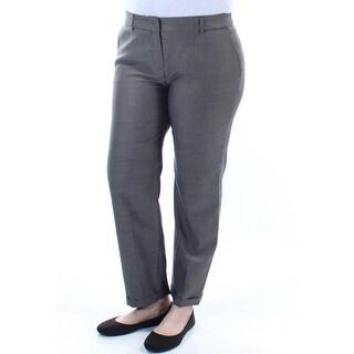 MAXMARA Womens New 2522 Gray Check Belted Pocketed Cuffed Pants 12 B+B
