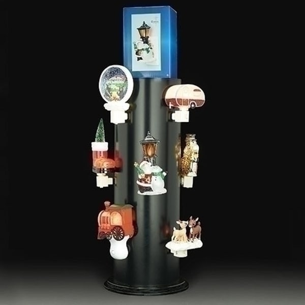 """24.5"""" Counter Top Night Light Displayer with 12 Outlets - N/A"""