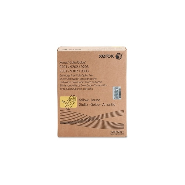 Xerox 108R00831 Xerox ColorQube Yellow Solid Ink, 108R831 - Yellow - Solid Ink - 37000 Page - 4 / Carton