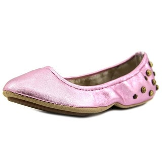 Juicy Couture Kandace Kid W Round Toe Canvas Ballet Flats