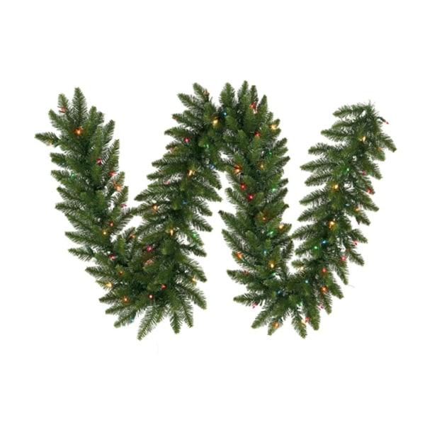 "9' x 14"" Pre-Lit Camdon Fir Artificial Christmas Garland - Multi LED Lights"