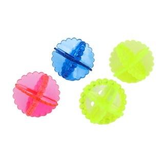 Unique Bargains Soft Reusable Laundry Washing Balls Home Household Wash Helper Dryer Balls Multicolor 4 Pcs