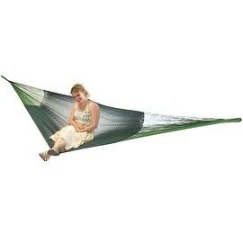 Sunnydaze Green Portable Hand-Woven 2-Person Mayan Hammock