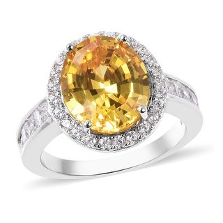 Link to 925 Sterling Silver Yellow White Cubic Zirconia Ring Size 8 Ct 10.4 - Ring 8 Similar Items in Rings