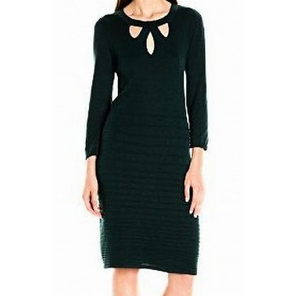 10354384a4b Shop Nine West NEW Black Women s Size XL Cutout Fit   Flare Sweater Dress -  Free Shipping On Orders Over  45 - Overstock - 17810968