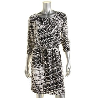 Jessica Simpson Womens Matte Jersey Printed Cocktail Dress