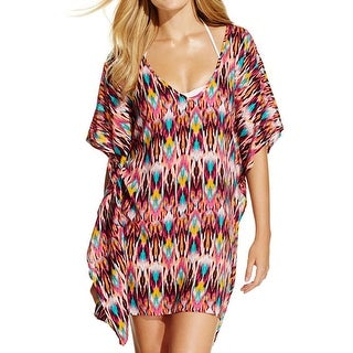 Kenneth Cole Womens Printed Tunic Dress Swim Cover-Up - M