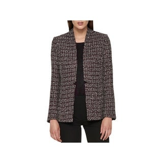 Tommy Hilfiger Womens Open-Front Blazer Tweed Office