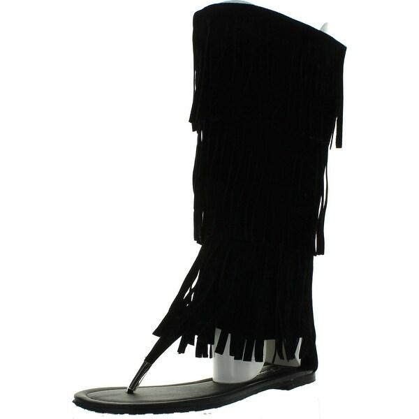 Forever Link Womens Kesha-72 Faux Nubuck Leather Winged Gladiator Sandal