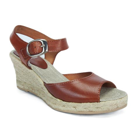 SKA BETTY V5N Tan Espadrille Strappy Wedge Sandals