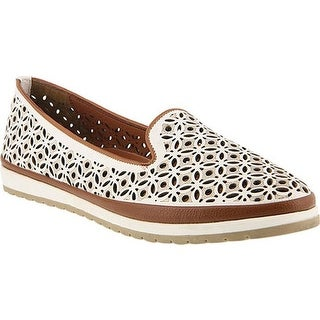 Spring Step Women's Tulisa Loafer White Leather