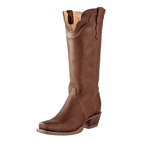 Outlaw Western Boots Womens Square Straps Hand Corded Adrian Tan