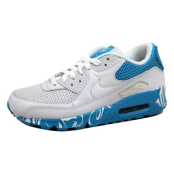 Nike Women's Air Max 90 White/White-Vivid Blue 325213-111