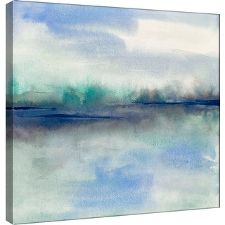 "PTM Images 9-100965  PTM Canvas Collection 12"" x 12"" - ""Feeling Teal II"" Giclee Abstract Art Print on Canvas"