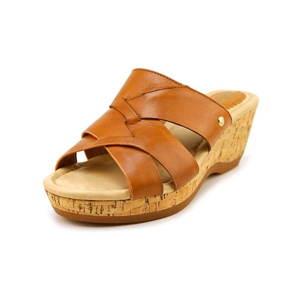 Hush Puppies Janae Farris Open Toe Leather Wedge Sandal
